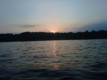 sunset on Lake Winnisquam