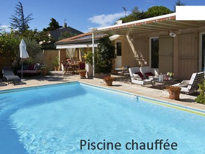 Avignon house for 6 persons, quiet, fully air-conditioned, private heated pool
