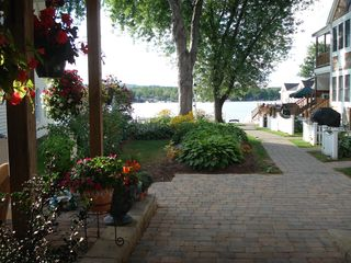 Lake Winnisquam condo photo - Main Entrance to Waterfront through Beautiful Gardens
