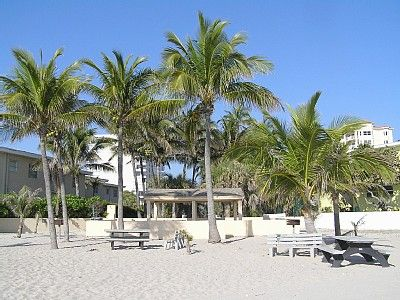 Beach Area with BBQ Grill, Picnic Tables, & Fresh-water Shower