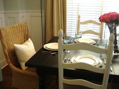 Hyannis - Hyannisport house rental - Nice comfortable dining room seating for 8..