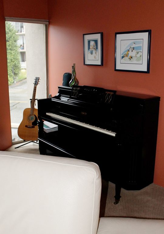 A tuned piano to play for those musically inclined.