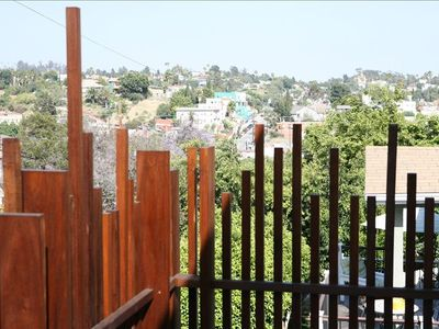 Lovely view of Elysian Park hills from the balcony