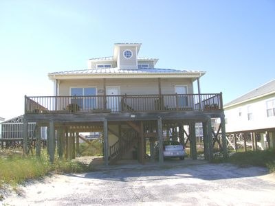 Co Co Cabana. Very nice, new two story beach house with plenty of parking.