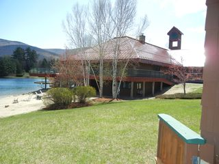 North Woodstock condo photo - Clubhouse from porch. Indoor pool, sauna, jacuzzi, weight & cardio, game&movie