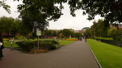 The public park beside St. Patricks Cathedral