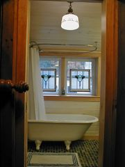 Victorian antique tub in upstairs bathroom - Old Orchard Beach house vacation rental photo