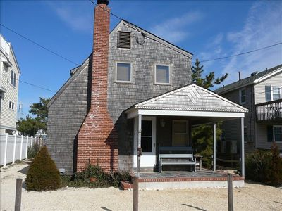 Our cedar-shake LBI home is six houses from the beach.