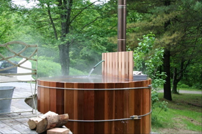 Woodwork cold weather wood fired hot tub pdf plans for Outdoor bathtub wood fired