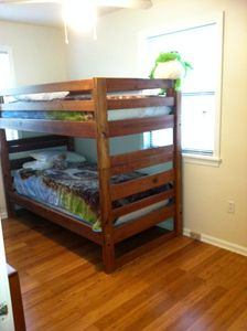 Third bedroom includes one set of bunkbeds