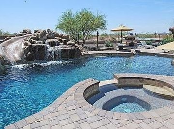 Cave Creek house rental - Great Private Pool with ROCK Waterslide and Spa.