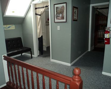 Entrance to 2 of 3 bedrooms