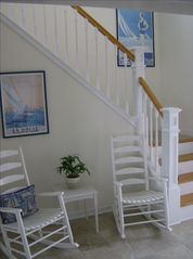 Kure Beach house photo - Open staircase ascending to the 3rd floor
