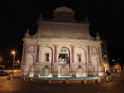 Monumental fountain of Trastevere