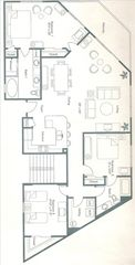 Orange Beach condo photo - Floor Plan with the Gulf Front Balcony on Top Right & Master BR on Top Left