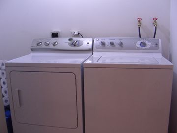 Washer and dryer inside the resort