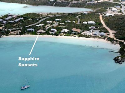 1/4 mile long and beautiful Sapodilla Beach