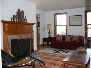 Eastham house photo - The living room has comfortable seating for all.