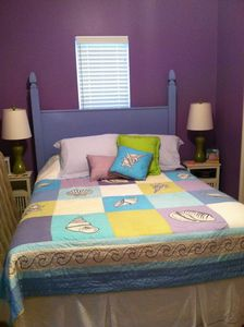2nd bedroom, who doesn't love purple??