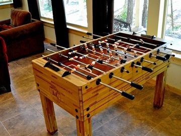 Foosball Table in the TV Room!