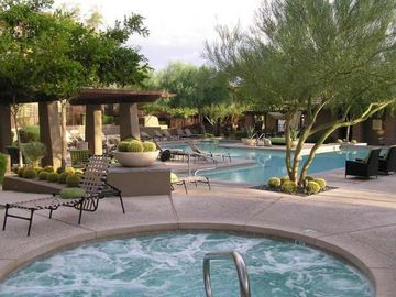 Other Scottsdale Properties condo rental - Hot tub and pool view - we overlook 1 of 4 pools and there are 3 hot tubs.