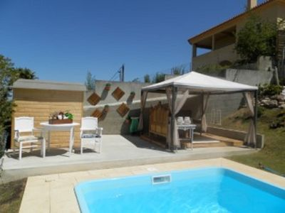 Detached family villa with pool situated in quiet area 10 minutes from the beach