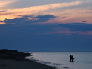 Gayhead - Aquinnah house photo - Evening view of Lobsterville Beach, 5-10 minute walk from house