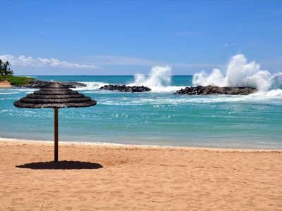 Ko Olina villa rental - You can still enjoy a calm dip in the ocean even when the waters are rough.