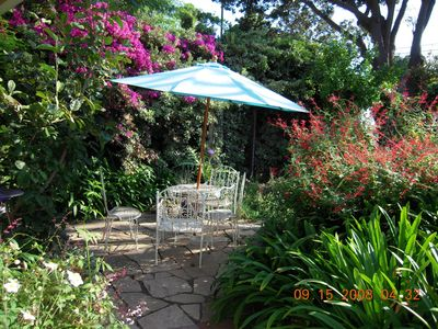 Santa Barbara apartment rental - front garden also features a diverse herb garden