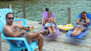 Sunbathing On The Dock! - Walloon Lake cottage vacation rental photo
