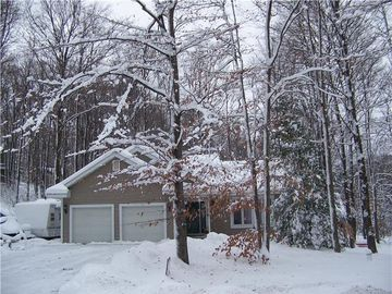 Harbor Springs house rental - Front of Home Jan 2011 - plenty of snow for snowmobiling easy in and out
