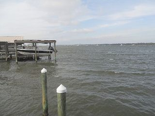 Gulf Shores property rental photo - view of bay from pier