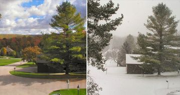 A beautiful fall day...one month later a blizzard!