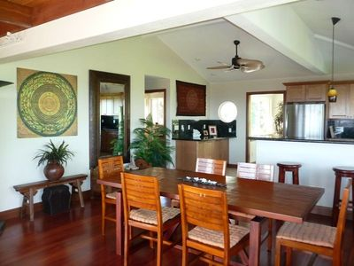 Kalapana house rental - 6 person capacity dining area to gourmet kitchen with high ceilings