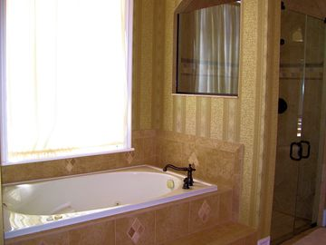 Huge Master Bath, great for a soak!