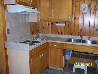 Cooperstown apartment photo - Kitchen-microwave, Keurig, convection oven, pots, pans, dishes