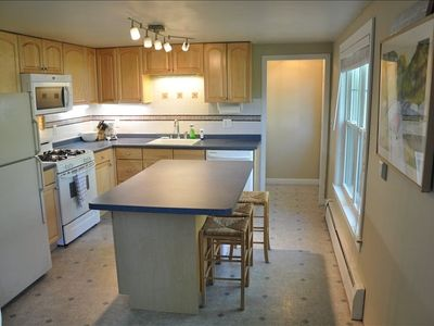 Fully applianced kitchen and island