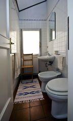 Bologna apartment photo - The smaller bathroom. Bathrooms are being kept in mint conditions.