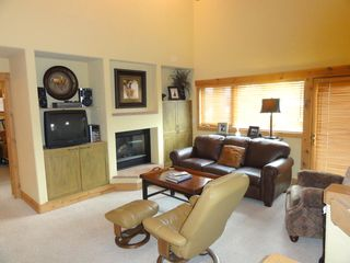 Steamboat Springs condo photo - Living Room area with gas fireplace + sleeper sofa