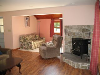 North Ferrisburg house photo - Living Room is Cozy Vermont!