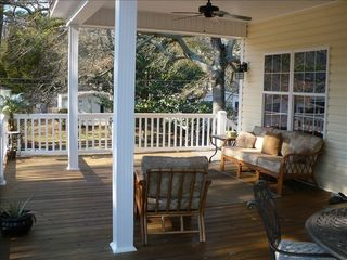 Ocean Lakes house photo - Plenty of shade and seating outdoors
