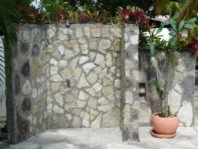 Cabarete villa rental - Pool side shower