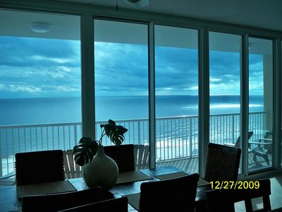 A million dollar view from the dining, kitchen and main living area