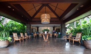 Lahaina condo photo - Open air lobby