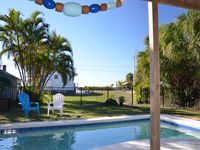 Pool-Side Retreat - 60 Steps to Beach, New Pool + Kitchen, 2 Kayaks+Paddle Board