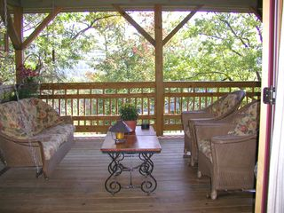 Highlands house photo - Enjoy your morning coffee on the Deck Lounge just outside your bedroom