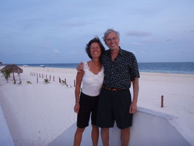 Ron & Liz overlooking our beach