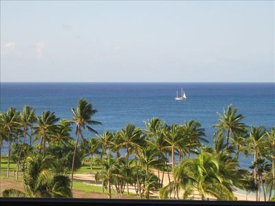 Panoramic picture-perfect ocean / beach / lagoon view from 7th floor lanai