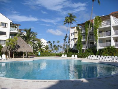 Punta Cana condo rental - Pool off the Patio