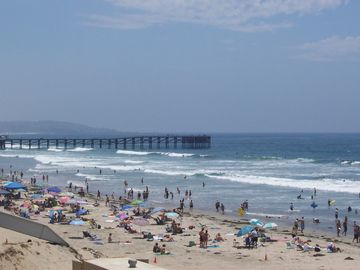 Beach looking to historic Crystal Pier